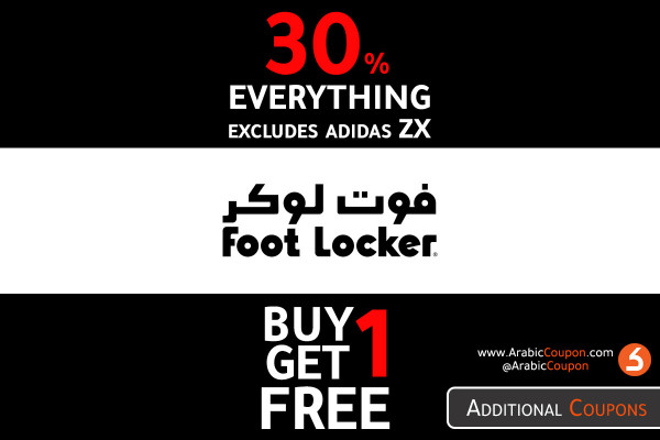 Foot Locker new offers - BUY 1 GET 1 FREE & 30 OFF on all products - October 2020