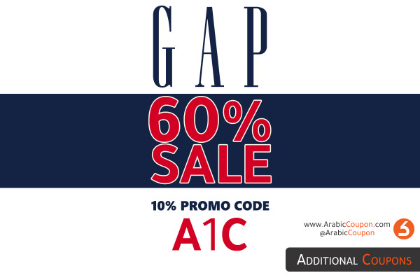 GAP sales of up to 60% with an additional promo code - the latest offers and discounts in the GCC