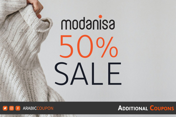The start of the Modanisa, 50% SALE on most products with additional coupons & promo codes