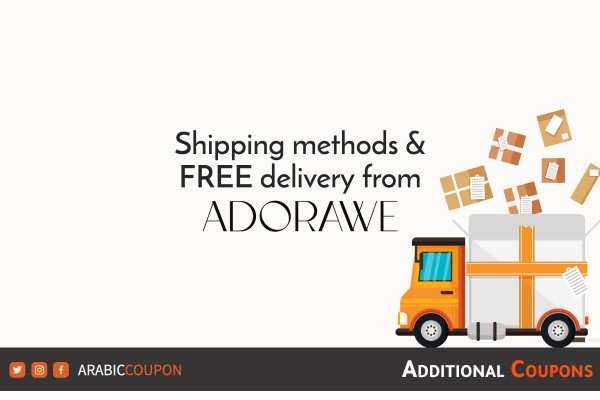 FREE delivery for online shopping from ADORAWE with additional coupon
