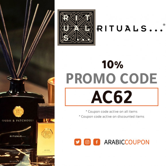 Rituals promo code active 100% on all products